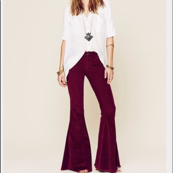 Free People Pants - Free People Flare Corduroy Bell Bottom Pants 26